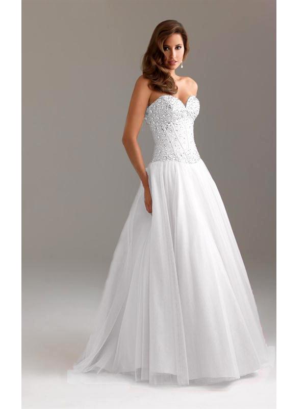 dadadde00d női ruha webshop | pántnélküli köves esküvői ruha | Axadion női ...