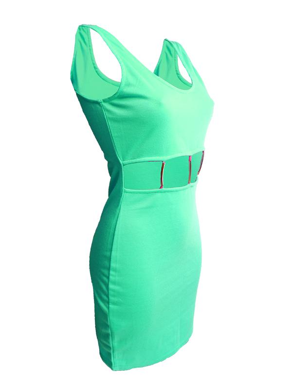 b570c1035 ruha webshop | női ruhák | trendi kivágott ruha rendelés | világoszöld