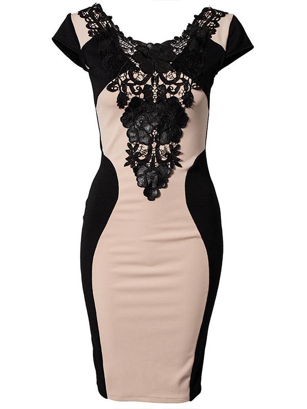női koktélruha webshop | dzsörzé kis fekete koktélruha