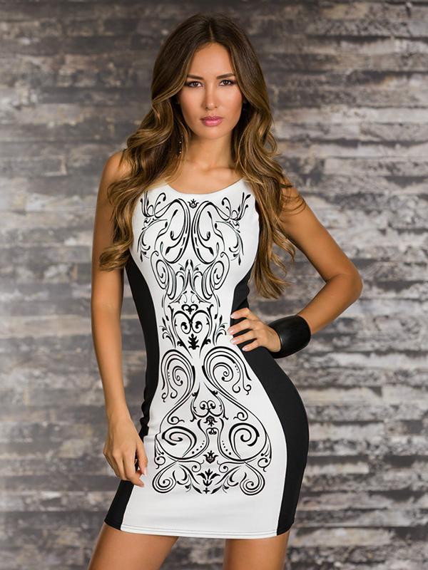 elegáns mintás női ruha e9b328a2da