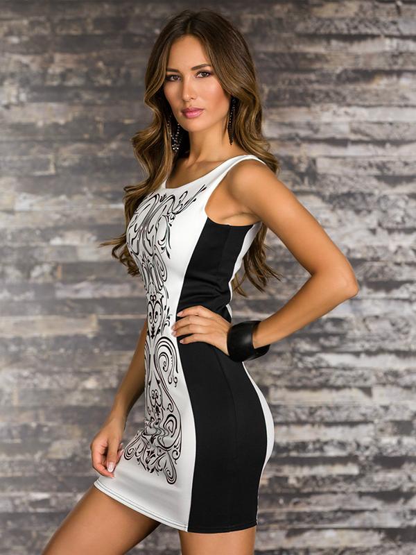 ... elegáns mintás női ruha. vásárlók véleményei ... 7634702661