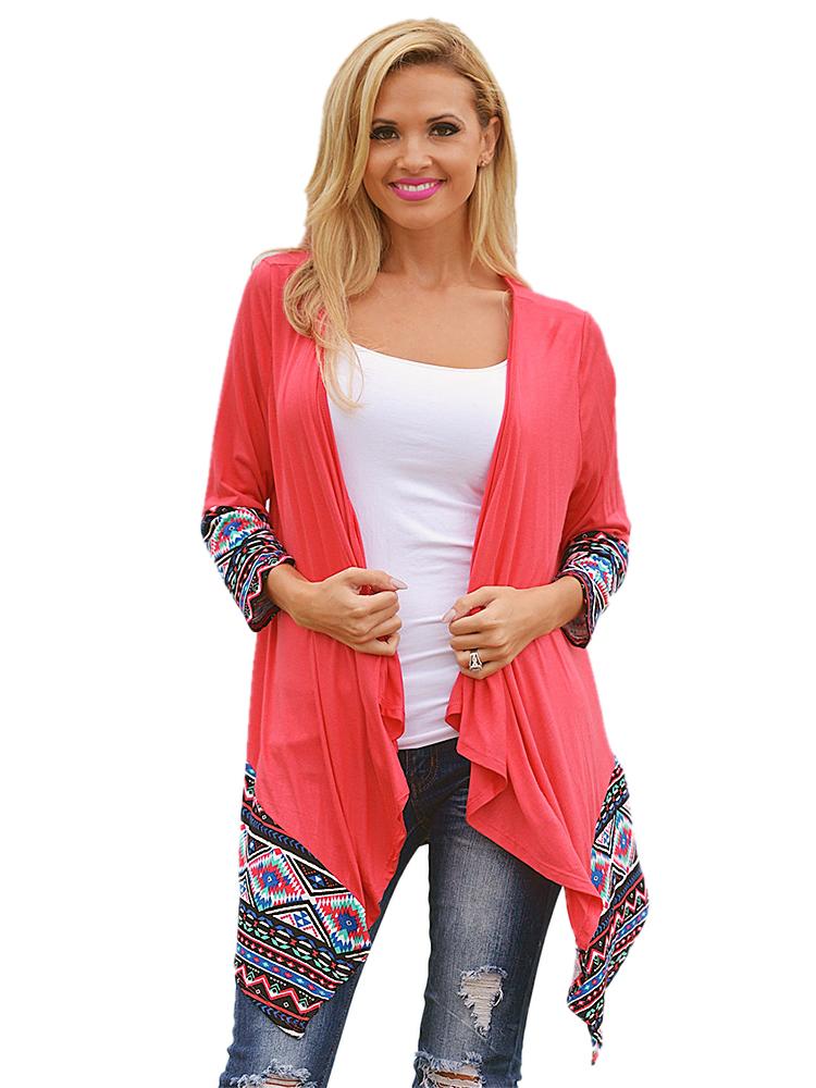 8e7ed29d6a ruha webshop | női felsők | bohém mintás kardigán rendelés | piros