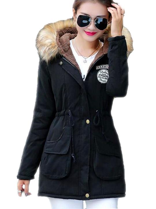 military szőrmés női kabát 1e6c20e57e