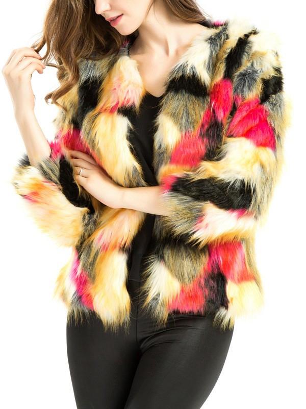 ár  10.990 Ft. divatos tarka műszőrme kabát a5a173359e