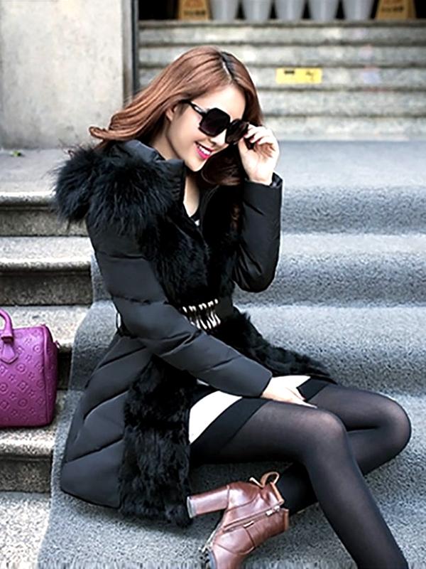 luxus szőrmés parka kabát f5c0d54900