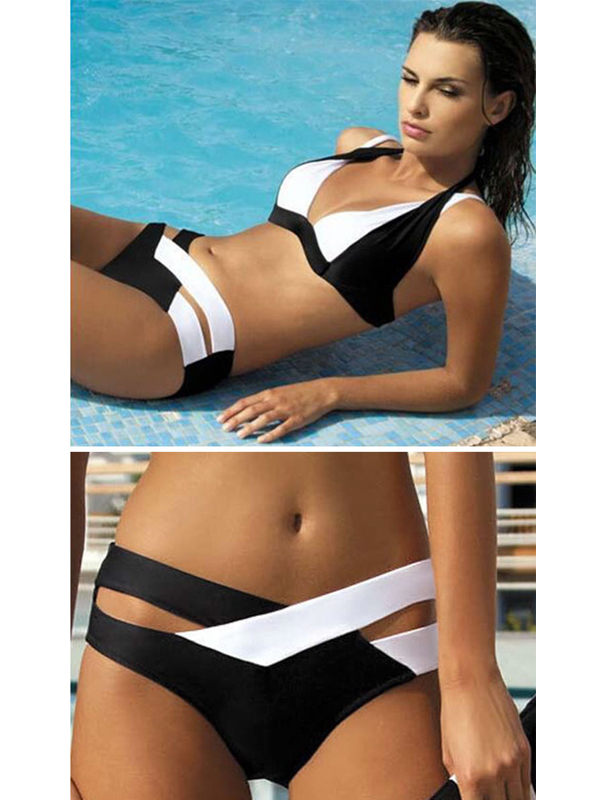 fekete fehér divat bikini 5cc4387bb3