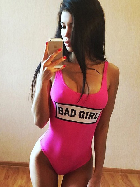 pink BAD GIRL fürdőruha addb54458a