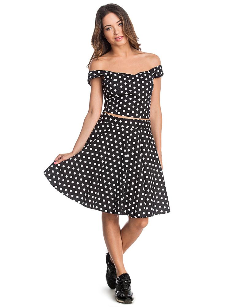 802ba6c99f női top webshop | retro pöttyös szoknya és top | Axadion női divat ...