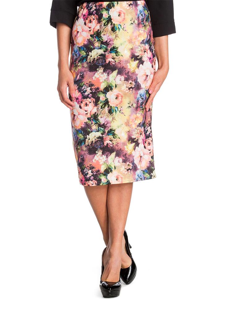 3533171999 ruha webshop   női nadrágok, szoknyák   virágos mintás midi szoknya ...