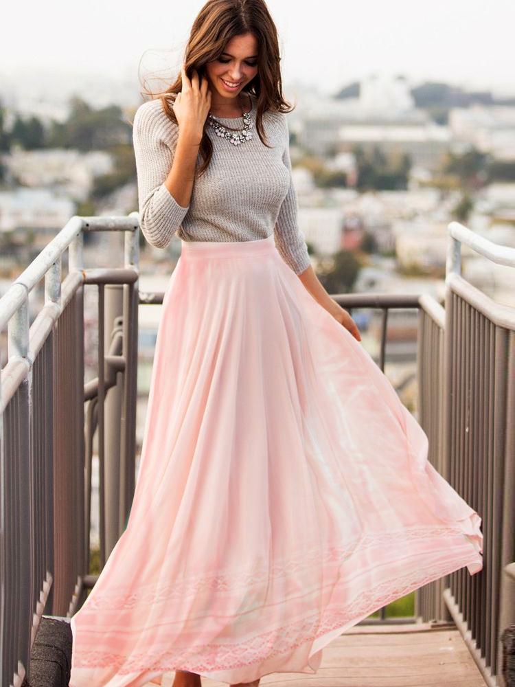 ea913f605d ruha webshop   női nadrágok, szoknyák   csipkebetétes hosszú szoknya ...