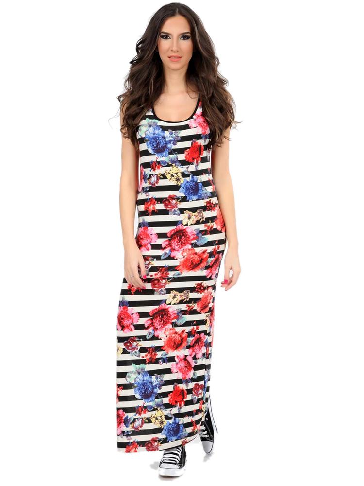 virágos olasz maxi ruha fe7d524015