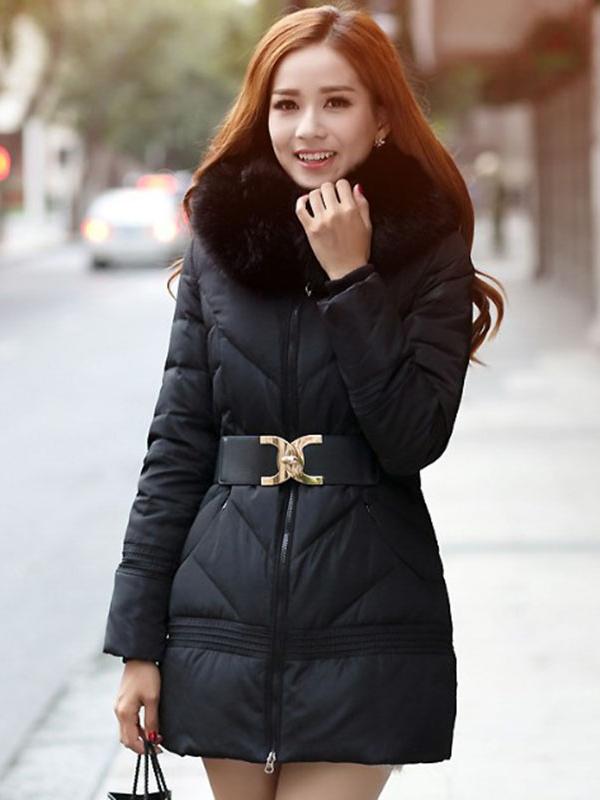 divatos női télikabát övvel 55cc59aa7a