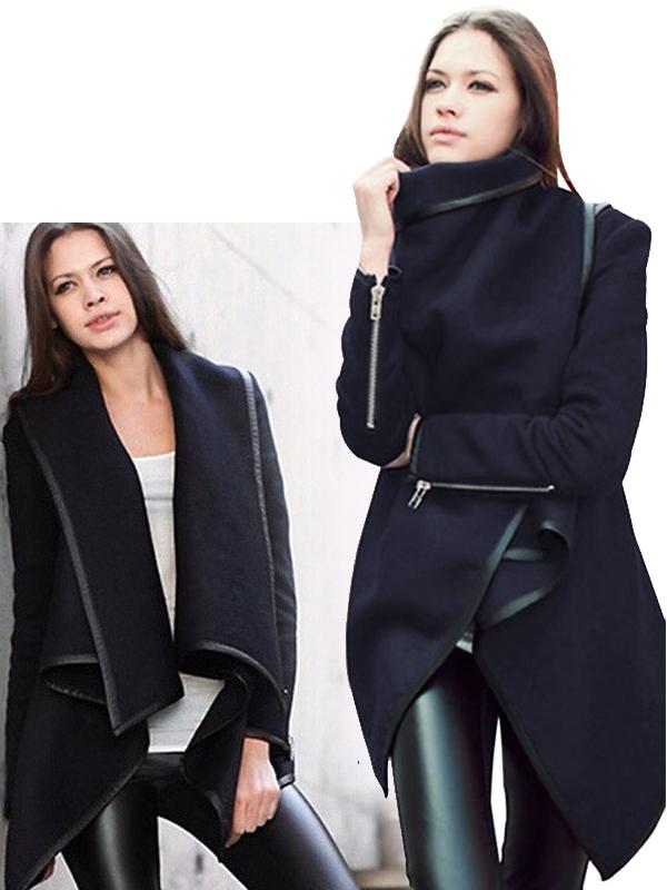 átlapolós trendi női kabát 690bea2e25