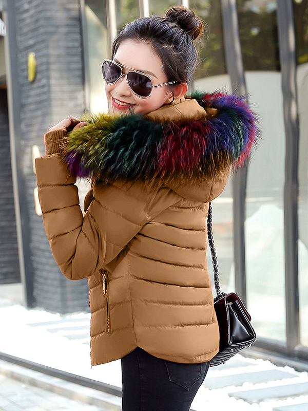 női télikabát webshop | színes szőrmés rövid télikabát