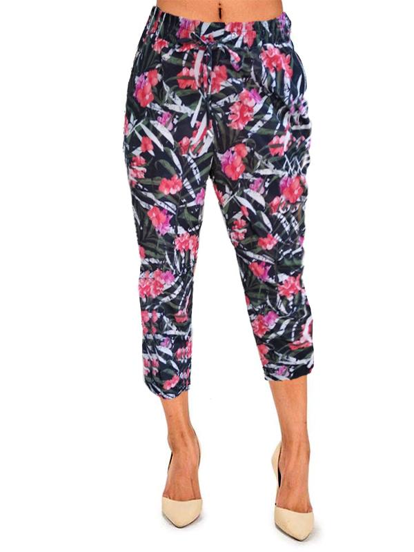 1e6b287dec női nadrág webshop | trópusi mintás nyári capri nadrág | Axadion női ...