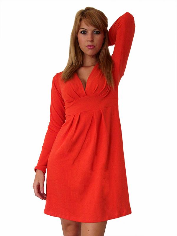 puha narancssárga női ruha 1aecc62725