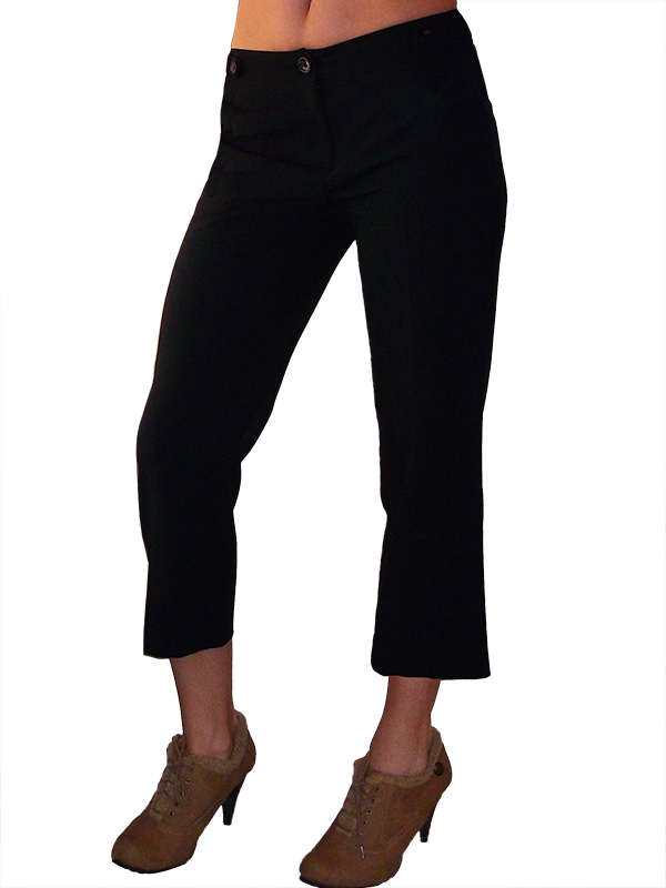 háromnegyedes elegáns fekete nadrág b3b97ee093